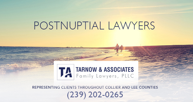Postnuptial Lawyers in and near Bonita Springs Florida